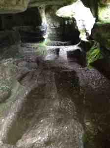 Ragusa - Cava Celone - L'interno della catacomba